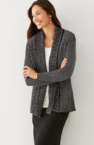 J. Jill Mixed-Stitch Open-Front Cardi
