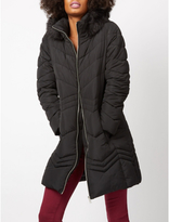 George Shower Resistant Padded Longline Coat