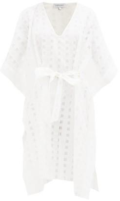 ODYSSEE Miller Fil-coupe Cotton-blend Kaftan - White
