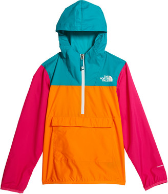 The North Face Girl's Colorblock 1/2-Zip Pullover Wind Jacket, Size XXS-XL
