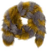 Silver New Orleans Fur Scarf