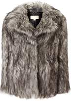 Michael Kors Faux Fur Pea Coat