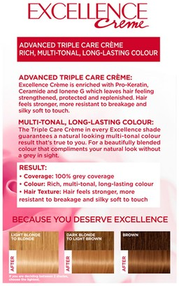 L'Oreal Excellence Creme Permanent Hair Dye (Various Shades) - 8 Natural Blonde