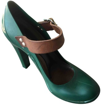 Marni Green Rubber Heels