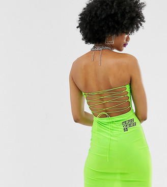 Collusion neon bandeau dress