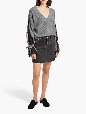 French Connection Salt And Pepper Jumper, Grey