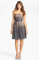 Eliza J Embellished Tulle Fit & Flare Dress