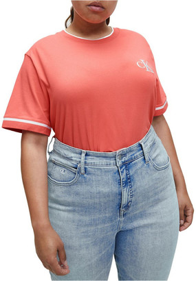 Calvin Klein Jeans CK Embroidery Tipping Tee Red