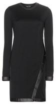 Tom Ford Leather-trimmed Wool-blend Dress