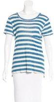 Current/Elliott Striped Long Pocket T-Shirt