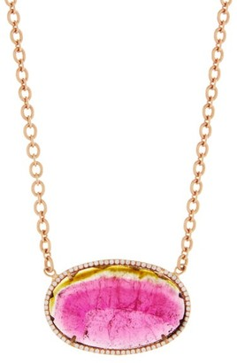Irene Neuwirth Watermelon Tourmaline & Diamond Necklace - Pink