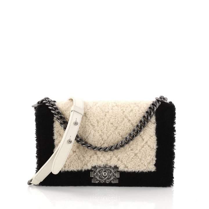 Chanel Boy shearling handbag