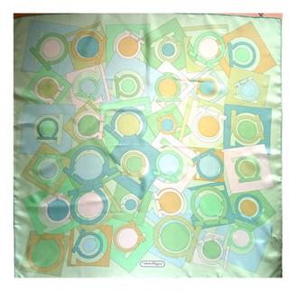 Salvatore Ferragamo Green Silk Scarves