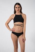 Donna Mizani Square Neck Bikini Top in Black