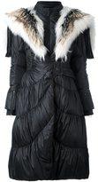 Ermanno Scervino fur-trimmed padded coat