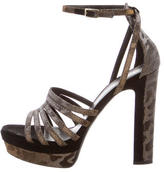 Tamara Mellon Metallic Platform Sandals