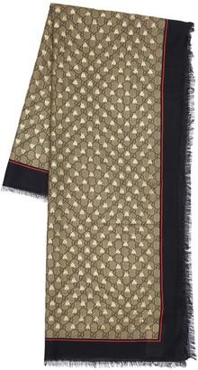 Gucci Gg Silk & Modal Scarf