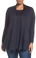 Nic+Zoe Plus Size Women's Chiffon Trim Cardigan