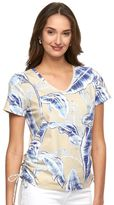 Caribbean Joe Women's Paisley Side Tie Tee