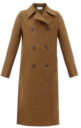 Harris Wharf London Double-breasted Pressed-wool Coat - Brown