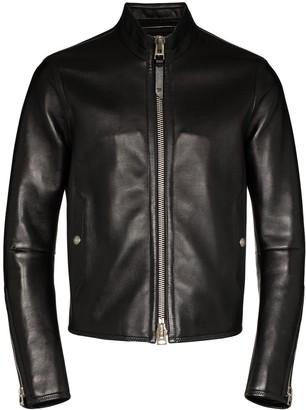 Tom Ford Lambskin Zip-Up Jacket