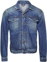 Calvin Klein Pleated Denim Jacket