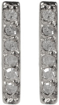 Kenneth Cole New York 14K Gold Plated Diamond Detail Bar Stud Earrings - 0.06 ctw