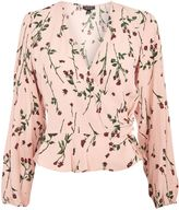Topshop TALL Rose Bud Print Top