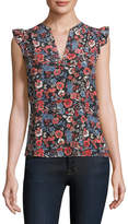 Joie Women's Silk Mirabelle Floral Top