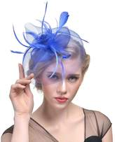30th floor Vintage feather gauze small hat headdress banquet party bride hair