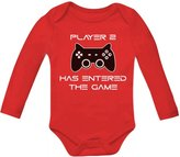 TeeStars Player 2 Has Ente The Game - Gift for Second Child Baby Long Sleeve Onesie