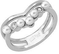 Majorica Women's Sterling Silver 3MM Organic Pearl & Crystal Cutout Ring
