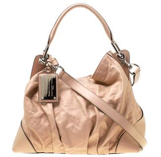 Dolce & Gabbana Metallic Pink Leather Miss Brooke Hobo