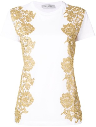 Valentino metallic lace T-shirt