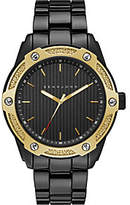 Sean John Men's Goldtone Black Bracelet Watch