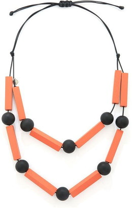 JCUK Made Of Wood Ball And Bars Necklace