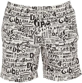 Dolce & Gabbana Monogram Printed Swim Shorts