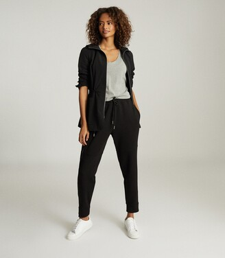 Reiss Angelina - Jersey Loungewear Joggers in Black