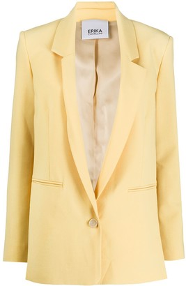 Erika Cavallini One Button Side Slit Blazer