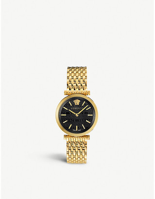 Versace VELS00819 V-Twist gold-toned stainless steel watch