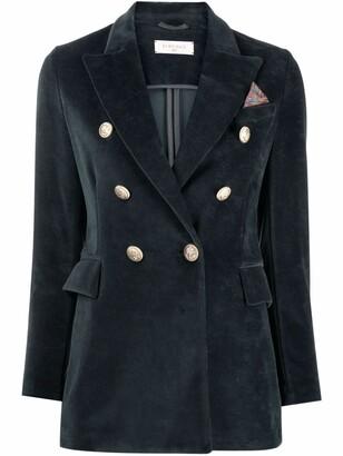 Circolo 1901 Velvet Double-Breasted Blazer