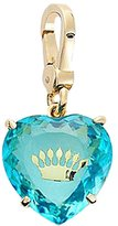 Juicy Couture Blue Rhinestone Heart Charm with Embedded Crown