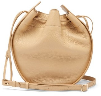 The Row Drawstring-pouch Leather Cross-body Bag - Cream