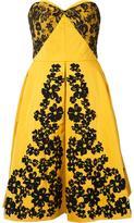 Oscar de la Renta lace embroidered strapless dress - women - Silk/Polyester - 14
