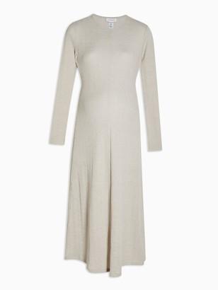 Topshop Maternity Cut And Sew Midi Dress - Oat