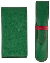 Hermes Leather Pen Case & Pocket Notepad