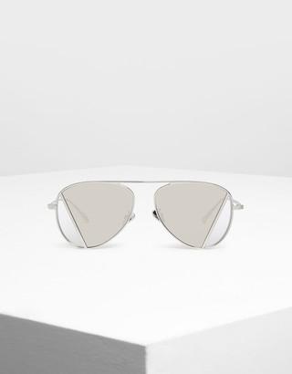 Charles & Keith Two-Tone Aviator Sunglasses