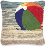 """Liora Manné Frontporch """"Life's A Beach"""" Square Throw Pillow in Sand"""