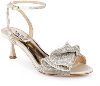 Badgley Mischka Remi Strass Ruffle Stiletto Sandals