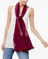 Eileen Fisher Organic Cotton Pom-Pom Scarf